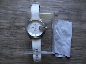Diesel DZ4292 Uhr Armbanduhr  Weiß Leder gebraucht