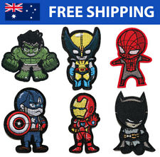 Superhero Embroidered Patches - Marvel DC Comic Embroidery Patch Badge Iron Sew