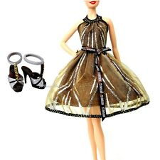 Barbie Fashion 2008 Hershey's Chocolate Dress and Shoes Silver Label NO DOLL