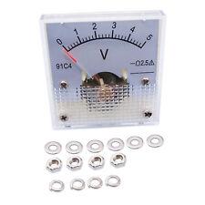 Us Stock Dc 0 5v Square Analog Volt Pointer Needle Panel Meter Voltmeter 91c4