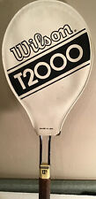 "Vintage Wilson T2000 Metal Tennis Racquet with Cover 4 1/4"" grip"