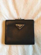 Authentic Prada Black Trifold Wallet