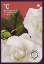 "CANADA 2019 Gardenia, Booklet 10 (2 x5) #3169 & #3170 ""P"", pane #3170a MNH"