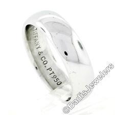 Tiffany & Co. Men's Platinum 5.8mm Classic Polished Domed Wedding Band Ring Sz 9