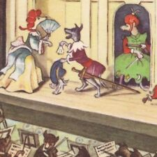 Postcard Anthropomorphic Dogs at Theater Schurmann Publisher