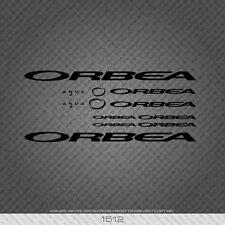 01512 Orbea Aqua Bicicleta Pegatinas-Calcomanías-Transfers-Negro