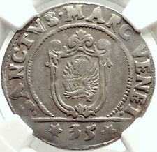 1739 ITALY VENICE Doge Francesco Erizzo Antique Silver 1/4 Scudo Coin NGC i74775