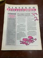 Nintendo Fun Club News Volume 1 Issue #2 1987 Legend of Zelda Game Guide Tips