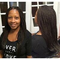 Synthetic Small Box Braided Lace Front Wigs for Black Women Afro Box Braided Wig