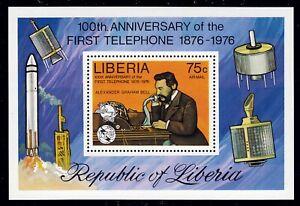 Liberia Bl. 81 A **, Graham Bell-100 Jahre Telefon