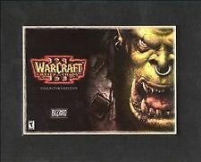 WarCraft III 3 Reign of Chaos Game & Book Windows 98/ME/2000/XP Power Macintosh