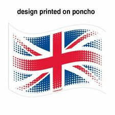 GB Plastic Poncho Adults Great Britain Weather Poncho Royal Wedding Festival