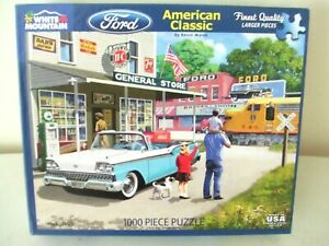 """White Mountain Ford """"American Classic"""" 1000 Piece Jigsaw Puzzle #1352 ~ 2017"""