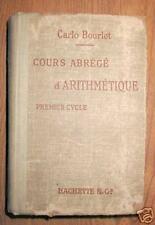 COURS ABREGE D'ARITHMETIQUE - premier cycle - 1919
