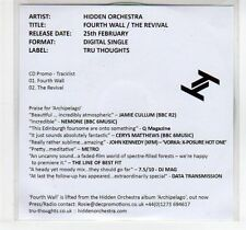 (EC839) Hidden Orchestra, Fourth Wall / The Revival - 2013 DJ CD