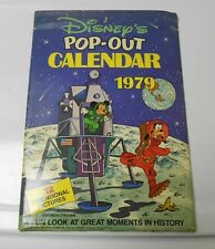 1979 DISNEY Pop-Up Calendar Mickey Mouse Goofy UNUSED FVF in Original Sleeve