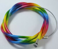 "BICYCLE BIKE Brake Cable 68"" + Double Sheath Housing 60"" RAINBOW COLOR"
