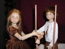 Maggie Iacono  American Cloth Artist Erin & Jamie Matched Number Pair Dolls MIB