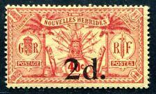 NOUVELLES HEBRIDES 1920 Yvert 69 * SELTENE MARKE 470€(S3754