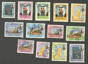 AOP Qatar #791//804 1992 Shaikh Khalifa used 13v $70.65
