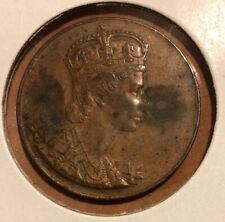 Canada - 1953 - Coronation Collectible Token - Queen Elizabeth II - 32 MM Copper