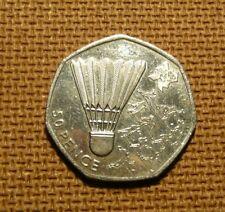 50 pence coin London Olympics 2012  UK   BADMINTON