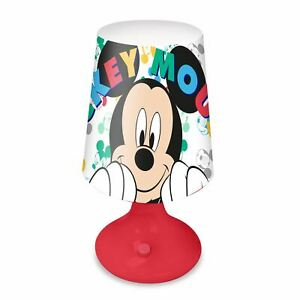 Mickey Mouse Lamp Boys Girls Fully Portable LED Night Light - Official Disney
