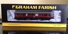 Graham Farish 374-875. Inspection Saloon. LMS Lined Crimson Lake.  N Gauge BNIB.