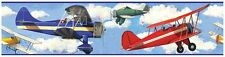Room Mates Vintage Planes Wallpaper Border Kids Bedroom Decor New Free P+P