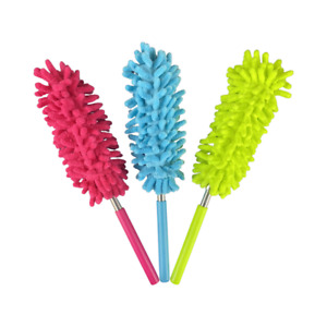 3 x EXTENDABLE TELESCOPIC DUSTER MICROFIBRE CLEANING FEATHER BRUSH 27cm to 75cm