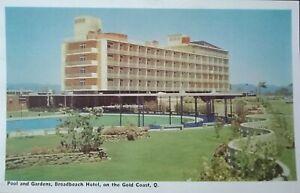 Vintage Postcard 1950's - Broadbeach Hotel on the Gold Coast, Qld