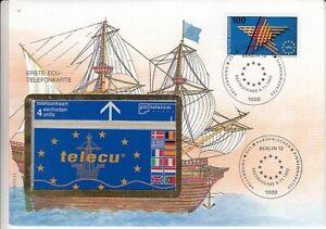 Telefonkartenbrief - ECU Telefonkarte  Segelschiff  1992