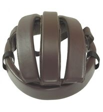 rinproject Cowhide Leather Bicycle Casque/Helmet Brown M Size 59cm no.4002 Japan