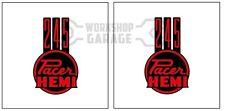 HEMI CHRYSLER VALIANT - Badge Style Stickers - 245 Hemi Pacer Standard Red #4
