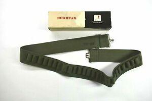 Vintage Redhead Army Green 44 Inch Adjustable 25 Round Shotgun Shell Ammo Belt