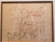 Illegibly Signed Pen And Ink Illustration/Drawing Linda Rustenhaus? Raitenhaus?