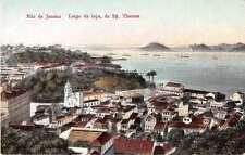 Rio de Janeiro Brazil Largo da Lapa Scenic View Antique Postcard J49199