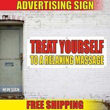 Massage Banner Advertising Vinyl Sign Flag Body Foot Spa Salon Relaxing Open Now