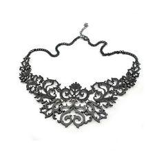 Necklace Collier Black Filigree Noir Baroque Victorian Salem Gothic Gothique