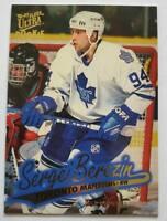 "Sergei Berezin Fleer Ultra 1997 ""Gold Medallion Edition"" Card #G-161 Maple Leafs"