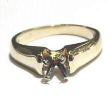 14k yellow gold  womens engagement ring mounting  4.5g vintage estate