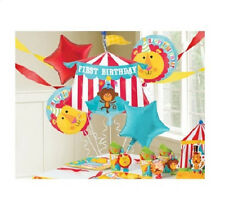 FISHER PRICE 1ST BIRTHDAY PARTY CIRCUS BALLOONS BOUQUET SUPPLIES DECORATIONS