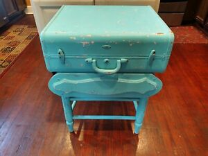 """Vintage Art Deco Wooden Table Rustic 26.5"""" Tall x 22"""""""