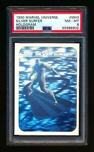 1990 MARVEL UNIVERSE #MH3 SILVER SURFER HOLOGRAM SP PSA 8 NM-MT!