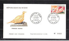 Niger  enveloppe 1er jour  oiseau  pterocles   1967