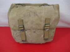 WWII US Army/USMC M1936 Canvas Musette Bag or Pack Khaki Color - Dated 1942 #1