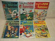 New Funnies 163-168 SET Nice! 1950-1951 Dell Comics (s 8526)
