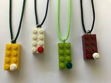 Handmade LEGO NFL necklaces! All 32 teams! Seahawks! Packers! Falcons! Patriots!