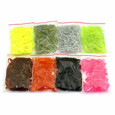 50pcs Lot Soft Plastic Lure Fishing Bait Single tail capuchin maggot Soft Tackle