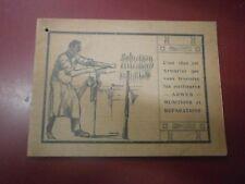 Catalogue Armes munitions réparations Etablissements V. Salavert Chasse pêche